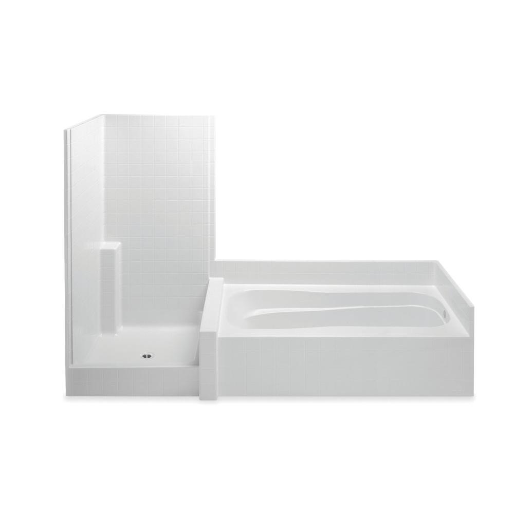 Aquatic Darsey 114Hg 2-Pc Gelcoat Tub & Shwr Suite
