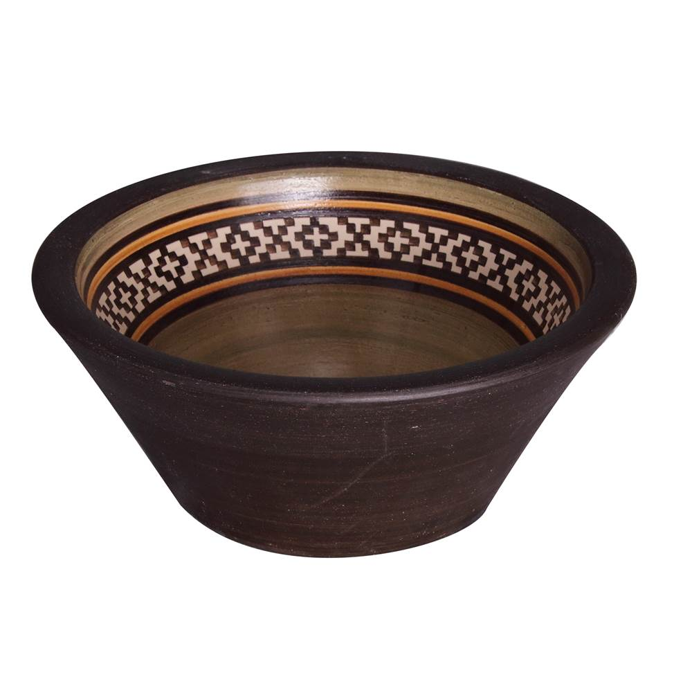 Barclay Fango 12'' Conical Vessel, Pampa Brown