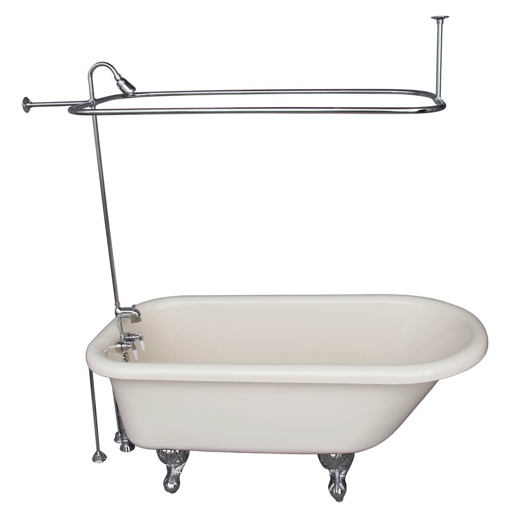 Barclay Tub Kit 60'' AC Roll Top, Shwr Unit, Supplies, Drain-Chrome