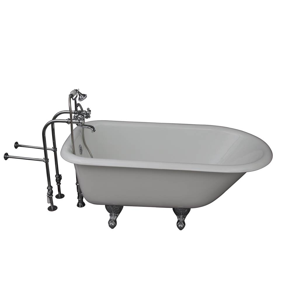 Barclay Tub Kit 54'' CI Roll Top, Tub Filler, Supplies, Drain-Chrome