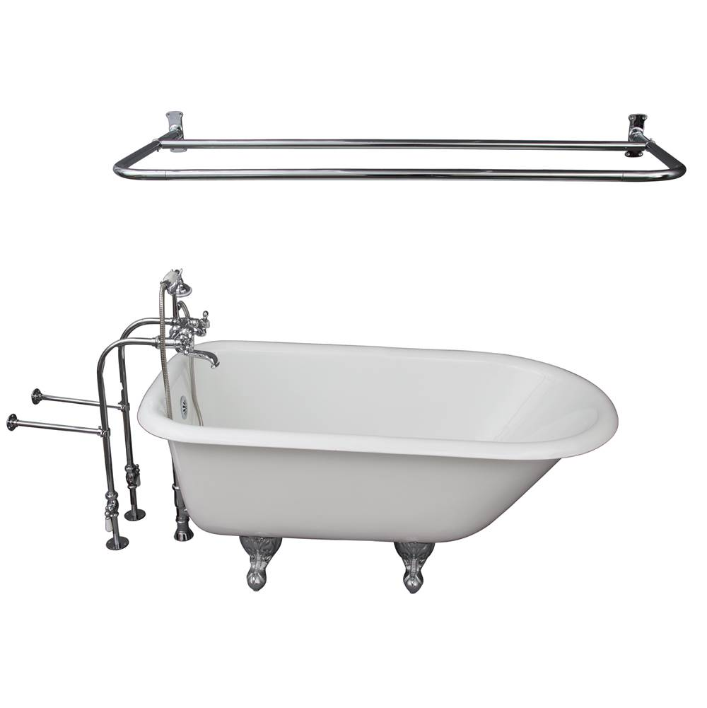 Barclay Tub Kit 54'' CI Roll Top, Shwr Rd,Filler,Supplies, Drain-Chrm