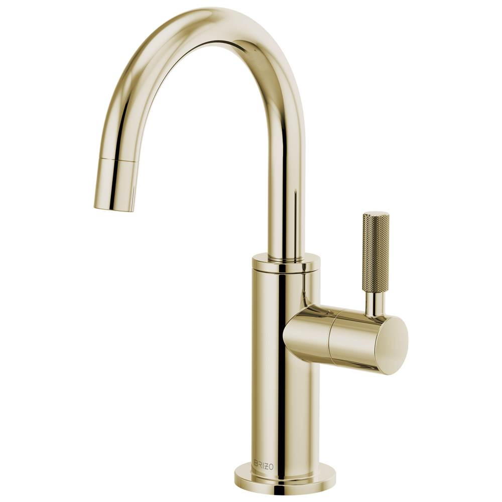 Brizo Litze: Beverage Faucet with Arc Spout and Knurled Handle