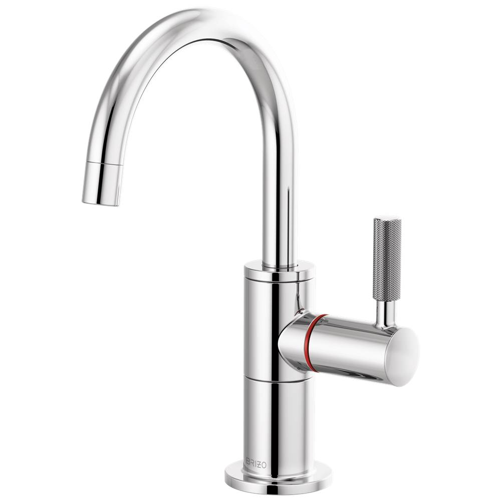 Brizo Litze: Instant Hot Faucet with Arc Spout and Knurled Handle
