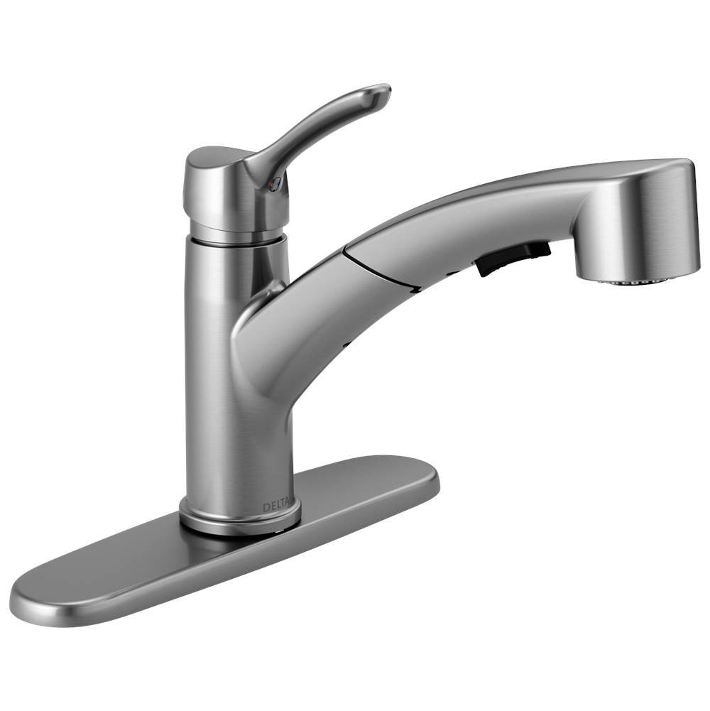 Delta Faucet Collins: Single Handle Tract-Pack Pull-Out Kitchen Faucet