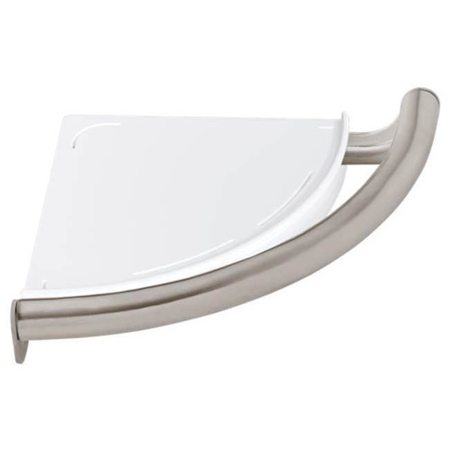 Delta Faucet BathSafety: Contemporary Corner Shelf with Assist Bar