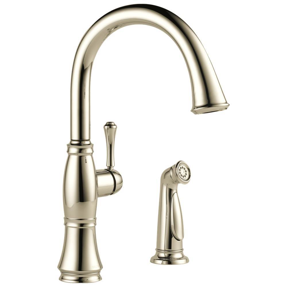 Delta Faucet Cassidy: Single Handle Kitchen Faucet with Spray