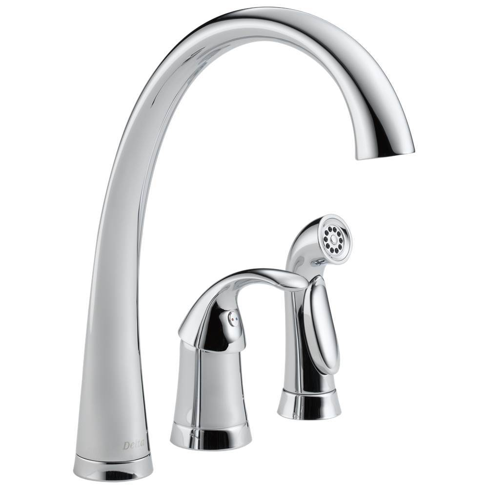 Delta Faucet Pilar: Single Handle Kitchen Faucet with Spray