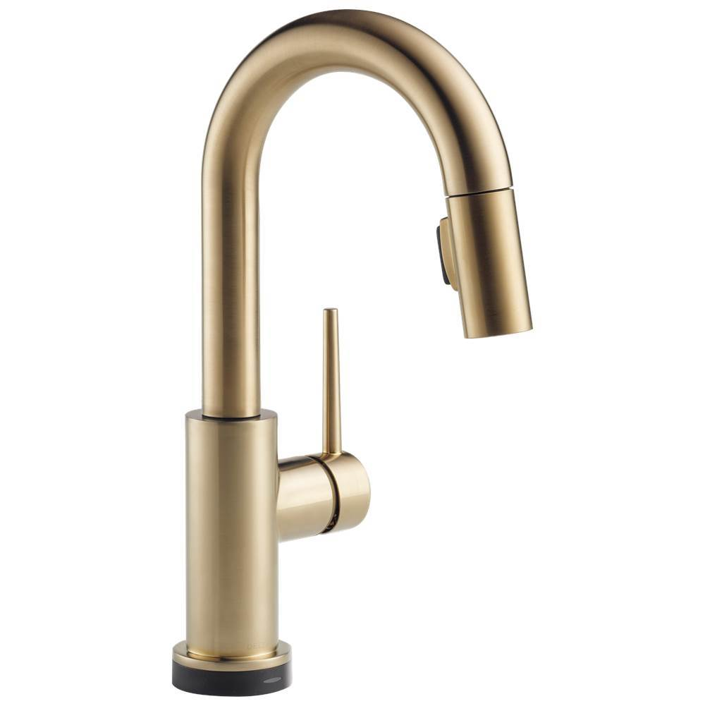 Delta Faucet Trinsic: Single Handle Pull-Down Bar / Prep Faucet with Touch2O® Technology