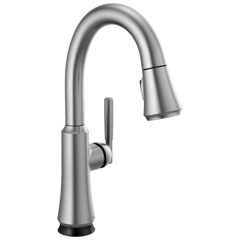 Delta Faucet Coranto: Single Handle Pull Down Bar/Prep Faucet with Touch2O Technology