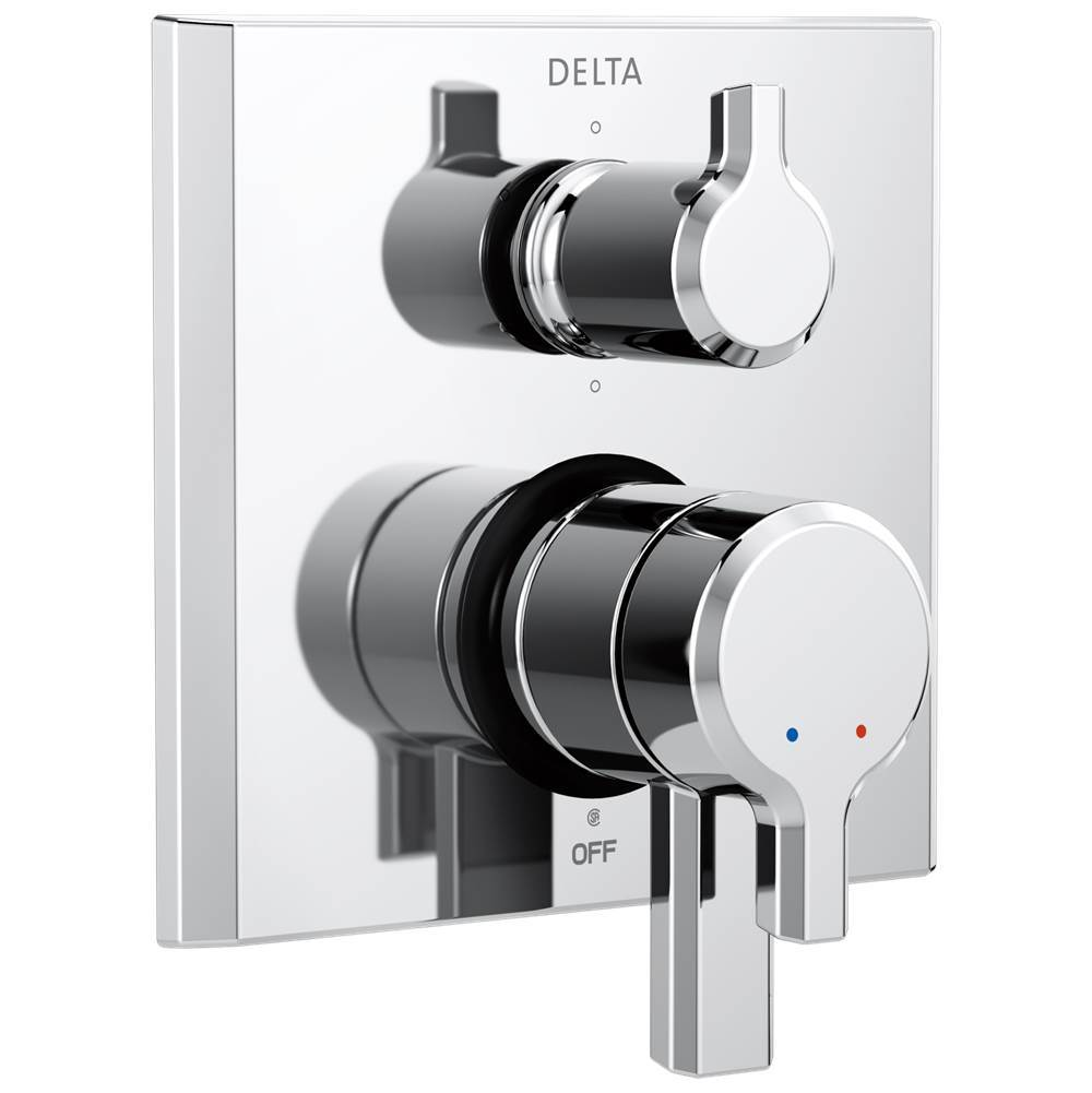 Delta Faucet Pivotal: 2-Handle Monitor® 17 Series Valve Trim with 6-Setting Diverter