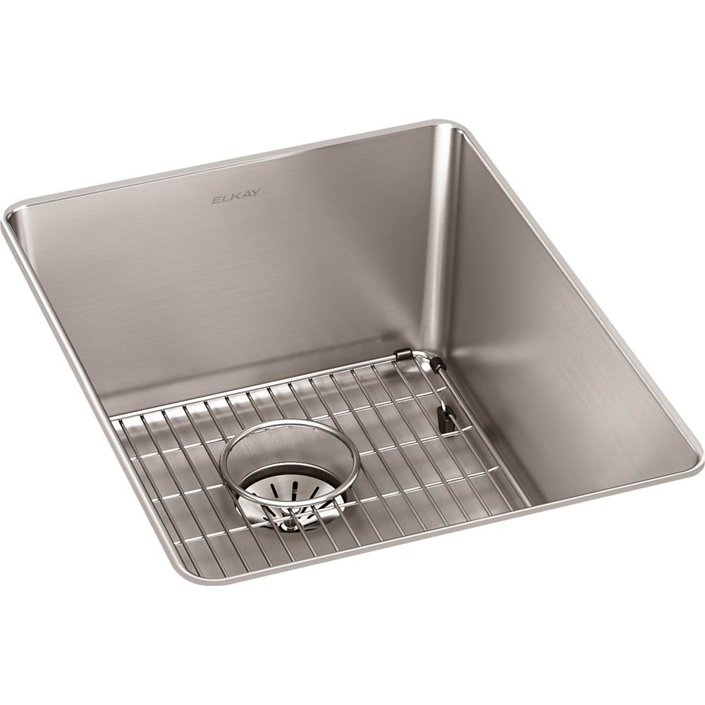 Elkay Reserve Selection Elkay Lustertone Iconix 16 Gauge Stainless Steel 16-1/2'' x 20-1/2'' x 9'' Single Bowl Undermount Sink Kit with Perfect Drain