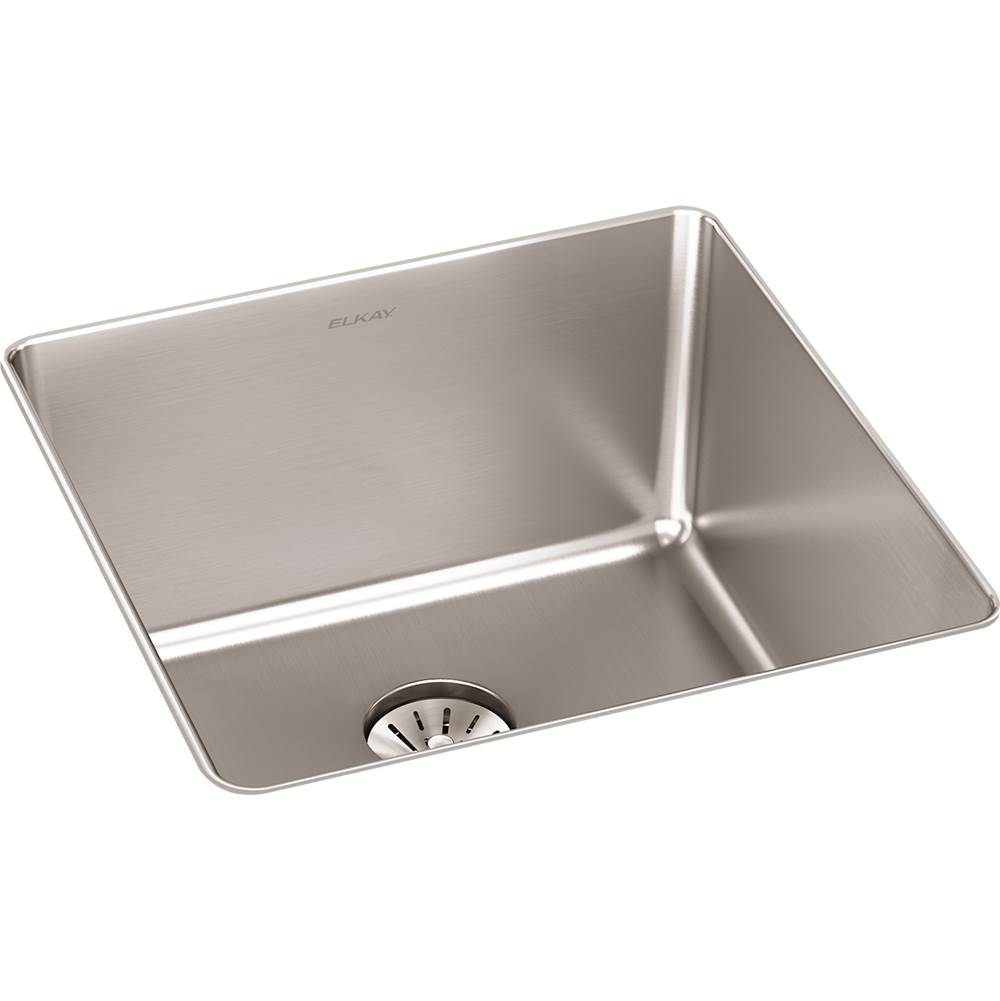 Elkay Reserve Selection Elkay Lustertone Iconix 16 Gauge Stainless Steel 18-1/2'' x 18-1/2'' x 9'' Single Bowl Undermount Sink with Perfect Drain