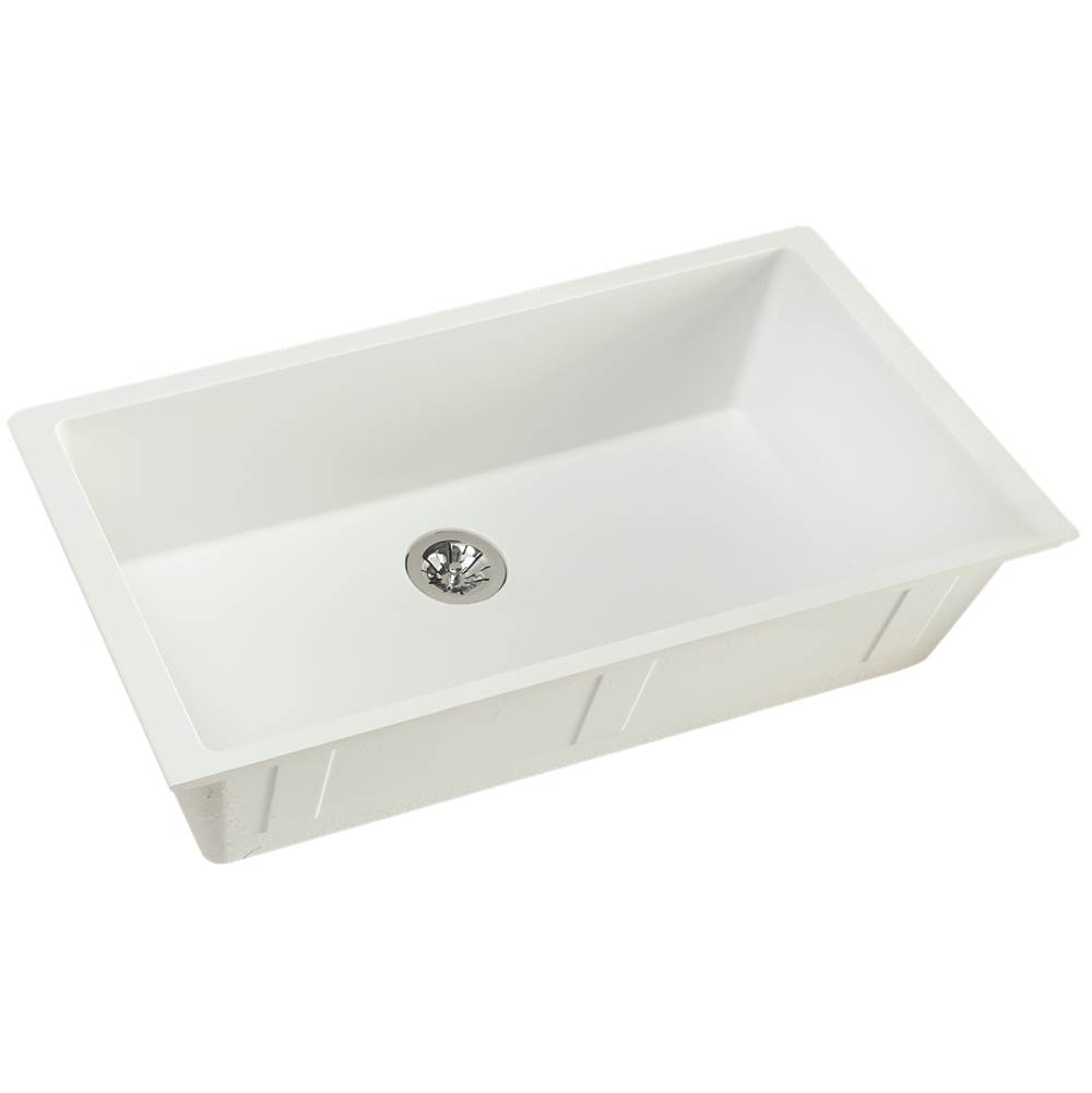 Elkay Reserve Selection Elkay Quartz Luxe 35-7/8'' x 19'' x 9'' Single Bowl Undermount Kitchen Sink with Perfect Drain, Ricotta