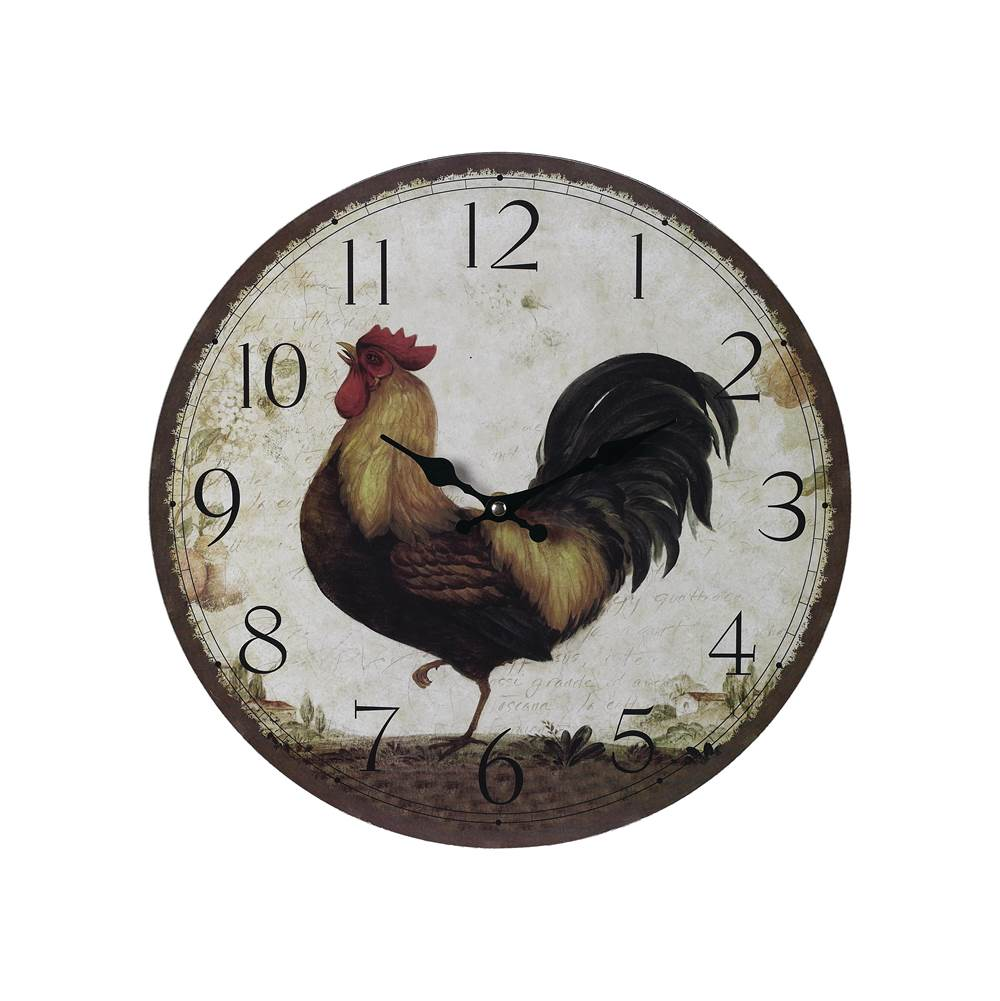 Elk Home Rooster Clock - Large