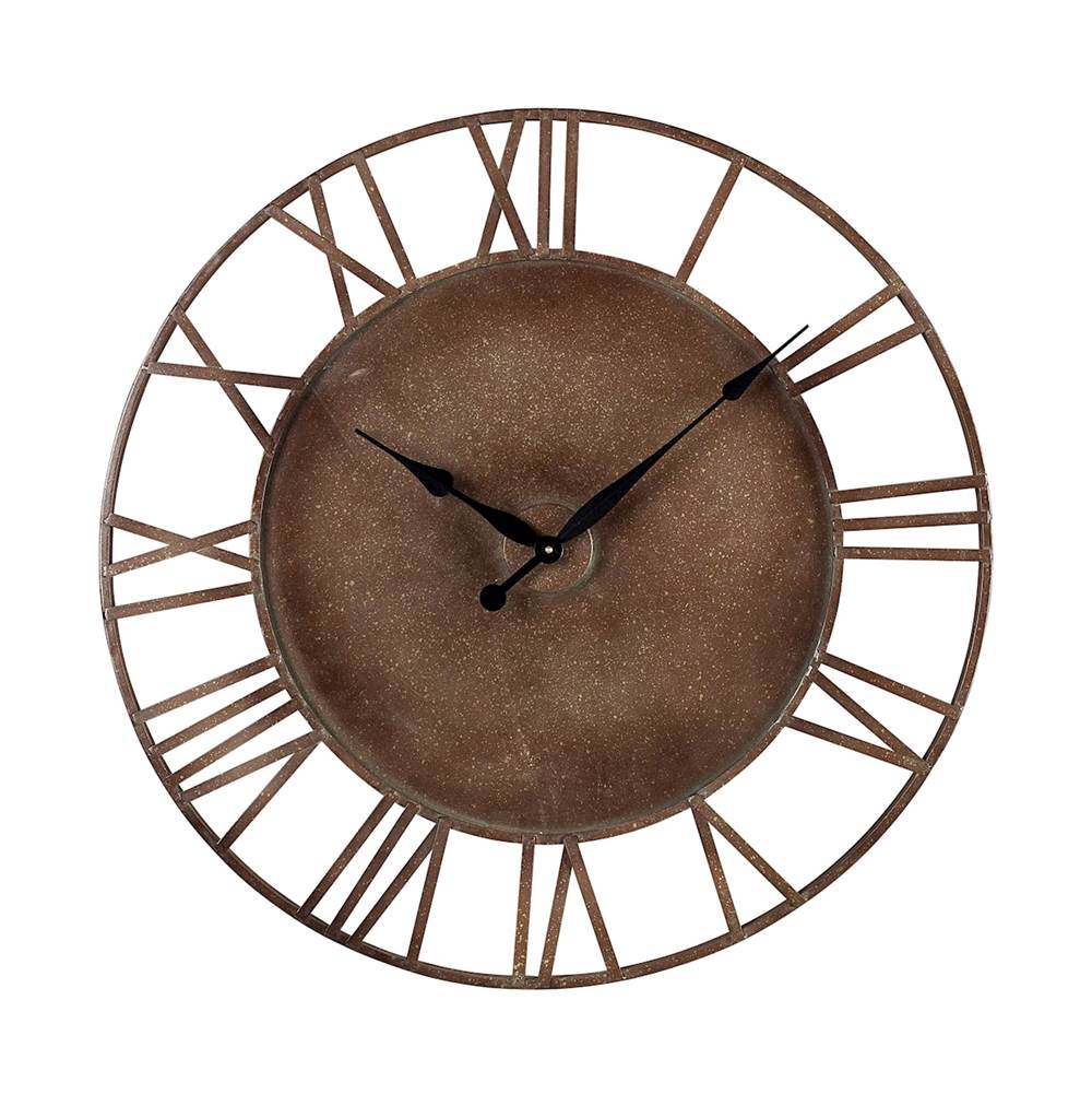 Elk Home Metal Roman Numeral Outdoor Wall Clock.