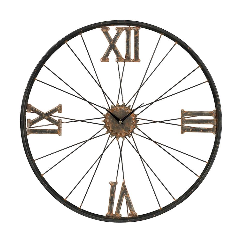 Elk Home Iron Wall Clock