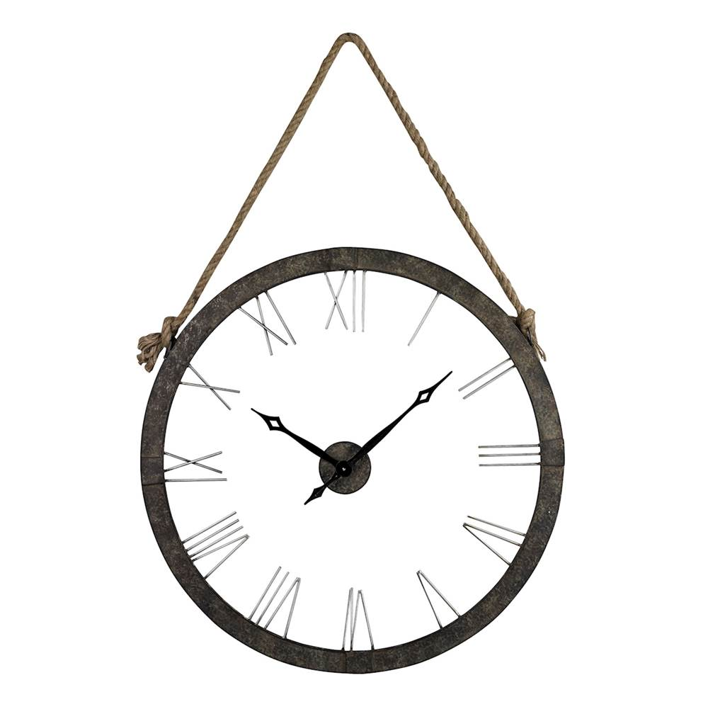 Elk Home Metal Wall Clock Hung On Rope