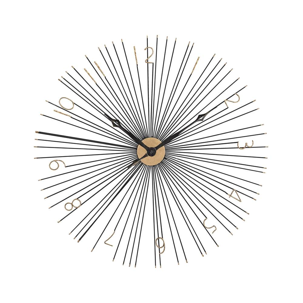 Elk Home Shockfront Wall Clock In Black And Gold