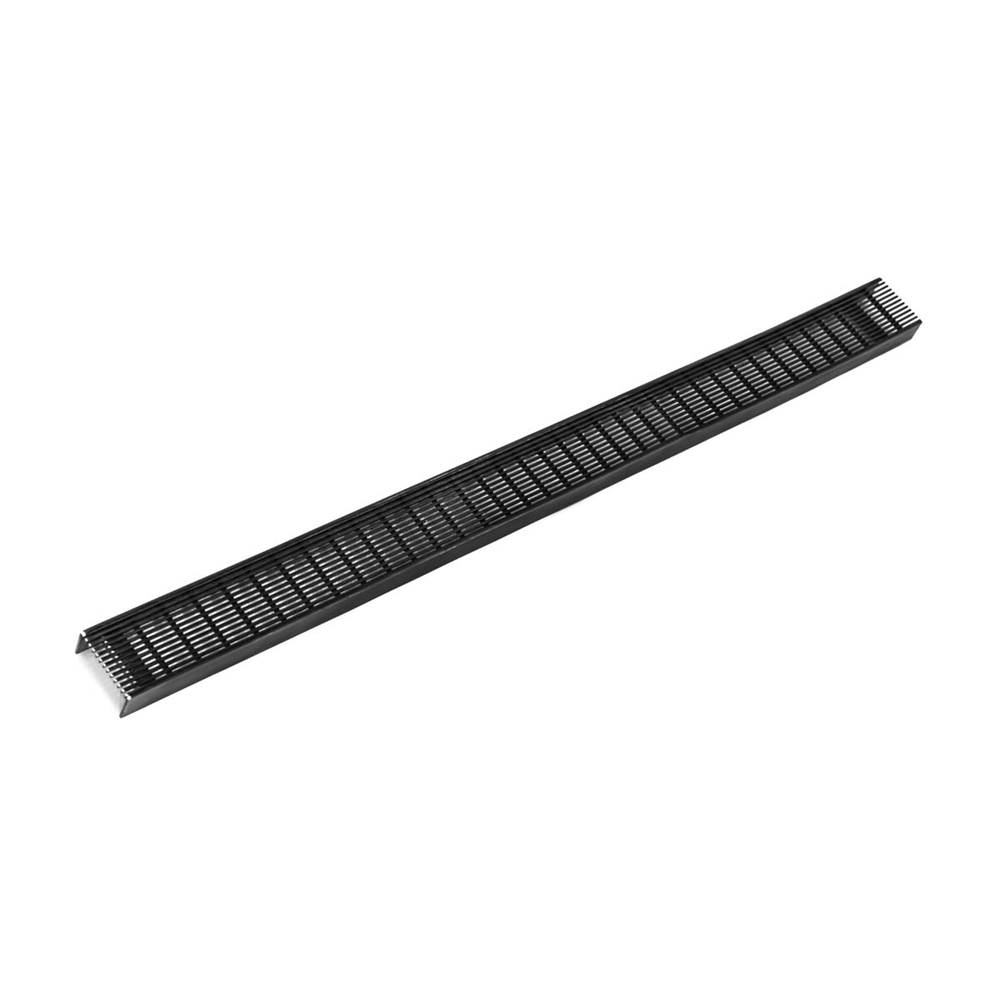 Infinity Drain 24'' Wedge Wire Grate for FXAS 65/FFAS 65/FCBAS 65/FCAS 65/FTAS 65 in Matte Black