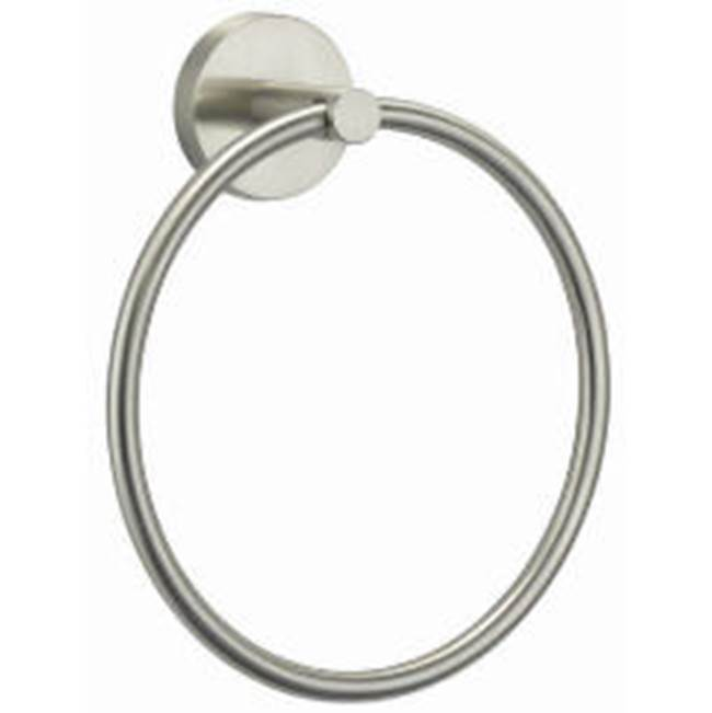 OmniPro 7'' Round Brushed Nickel Towel Ring Highlight Collection