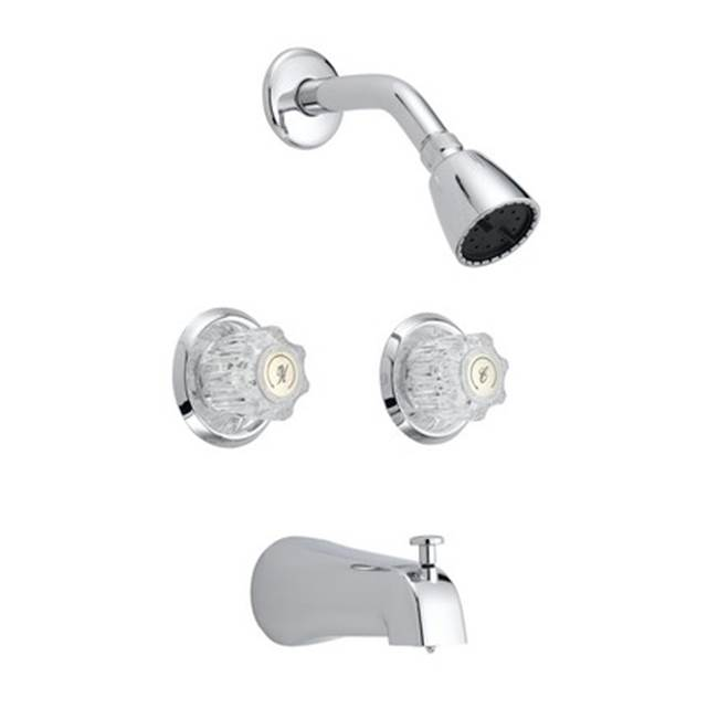 OmniPro 2 Valve Tub / Shower Combo Washerless, With Acrylic Handles
