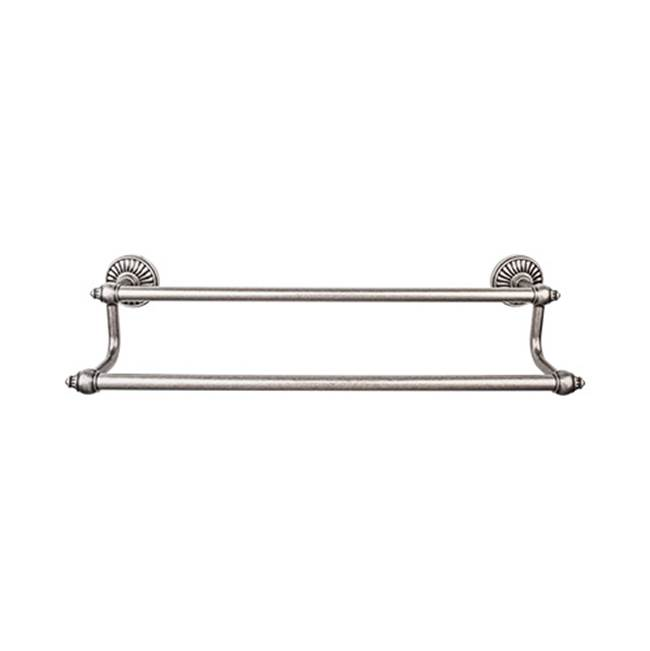 Top Knobs Tuscany Bath Towel Bar 18 Inch Double Antique Pewter