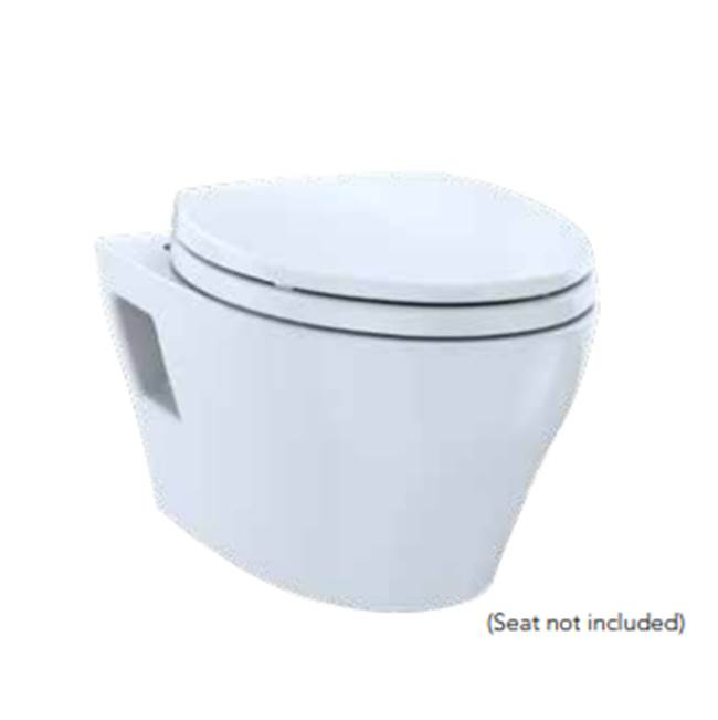 Toto TOTO® EP WASHLET+ Ready Wall-Hung Elongated Toilet Bowl with Skirted Design and CEFIONTECT, Cotton White - CT428FGT40#01