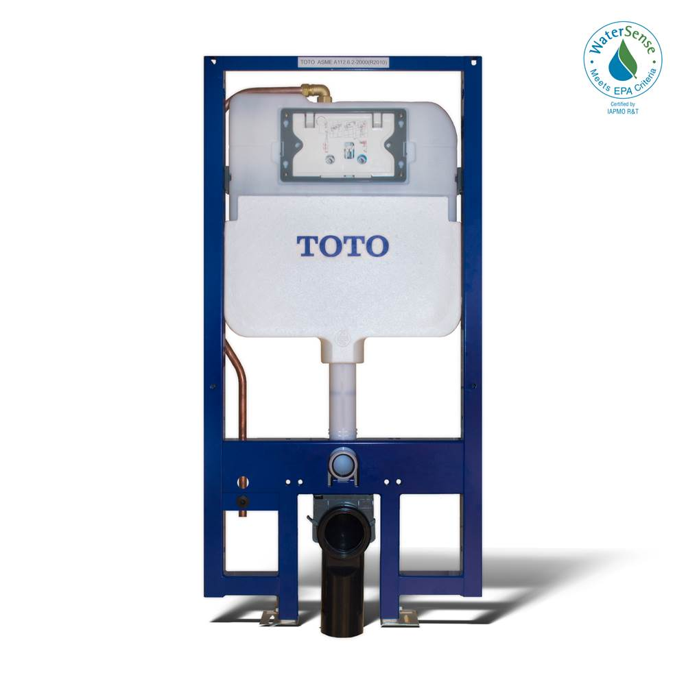 Toto TOTO® DUOFIT® In-Wall Dual Flush 1.28 and 0.8 GPF Tank System, Copper Supply Line - WT173M