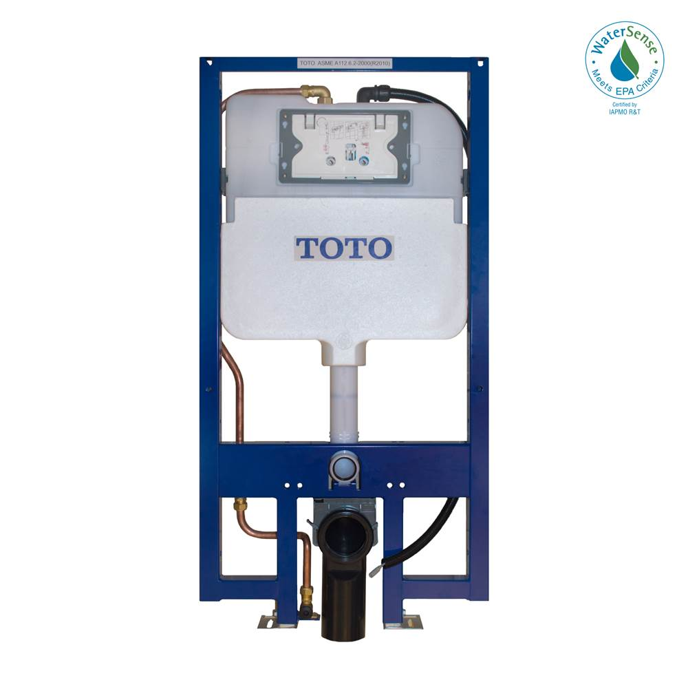 Toto TOTO® DUOFIT® In-Wall Dual Flush 1.28 and 0.8 GPF Tank System with WASHLET®+ Auto Flush Ready Copper Supply Line - WT173MA