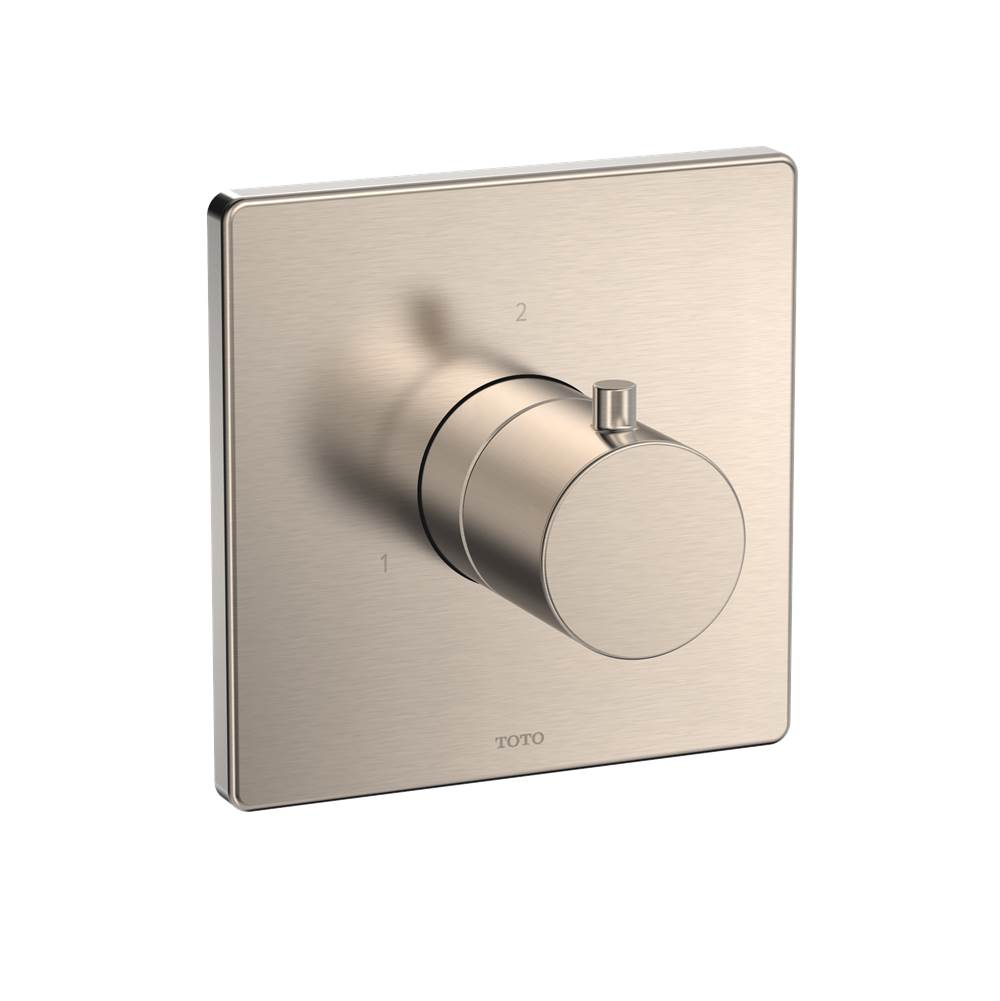 Toto Square Two-Way Diverter Shower Trim, Brushed Nickel