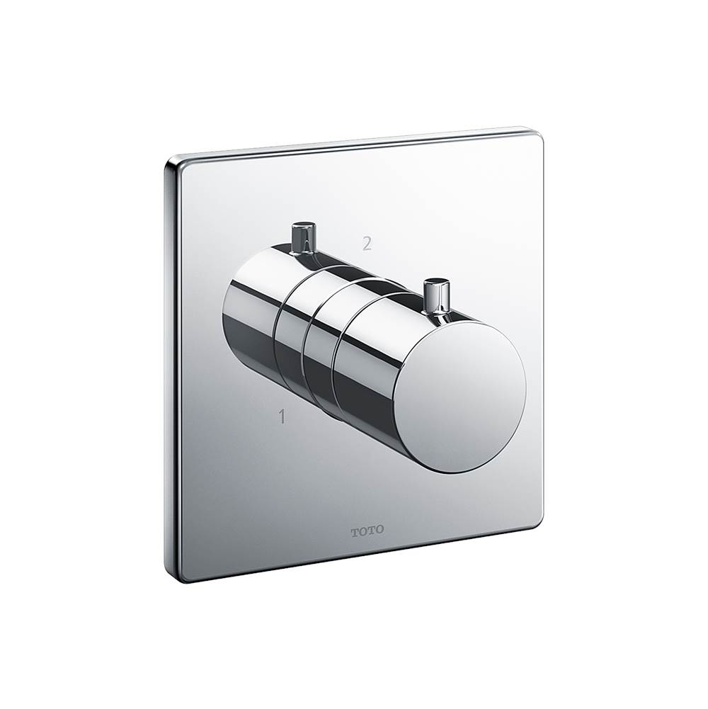 Toto Square Three-Way Diverter Shower Trim, Polished Chrome