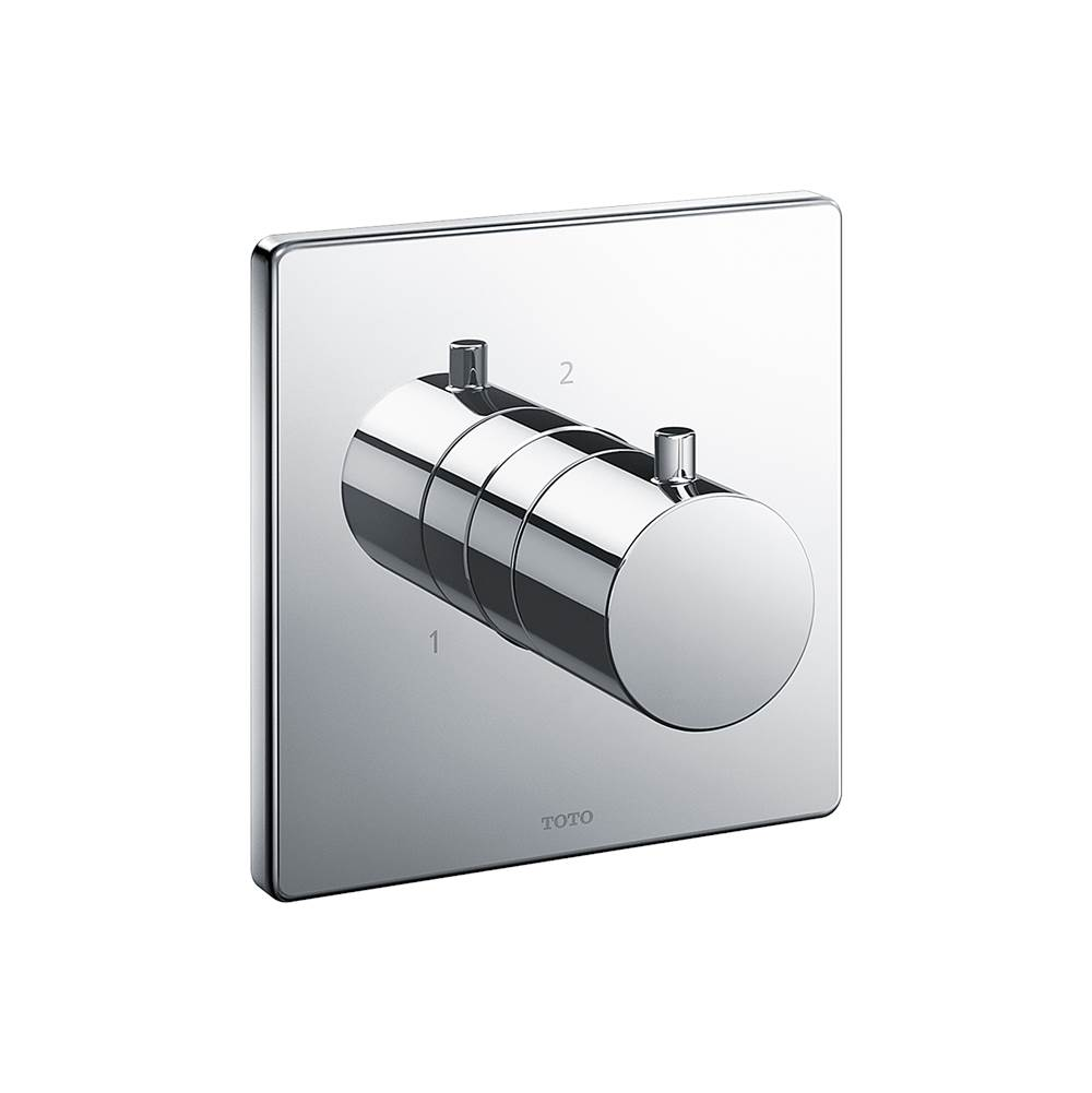 Toto Square Two-Way Diverter Shower Trim, Polished Chrome