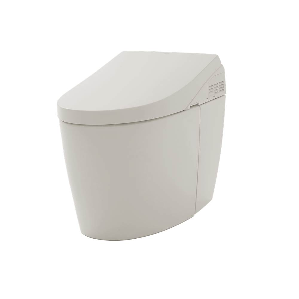 Toto NEOREST® AH Dual Flush 1.0 or 0.8 GPF Toilet with Intergeated Bidet Seat and EWATER++, Sedona Beige-