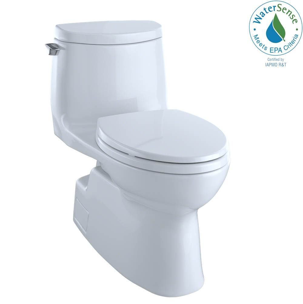 Toto Carlyle® II 1G® One-Piece Elongated 1.0 GPF Universal Height Skirted Toilet with CEFIONTECT, Bone