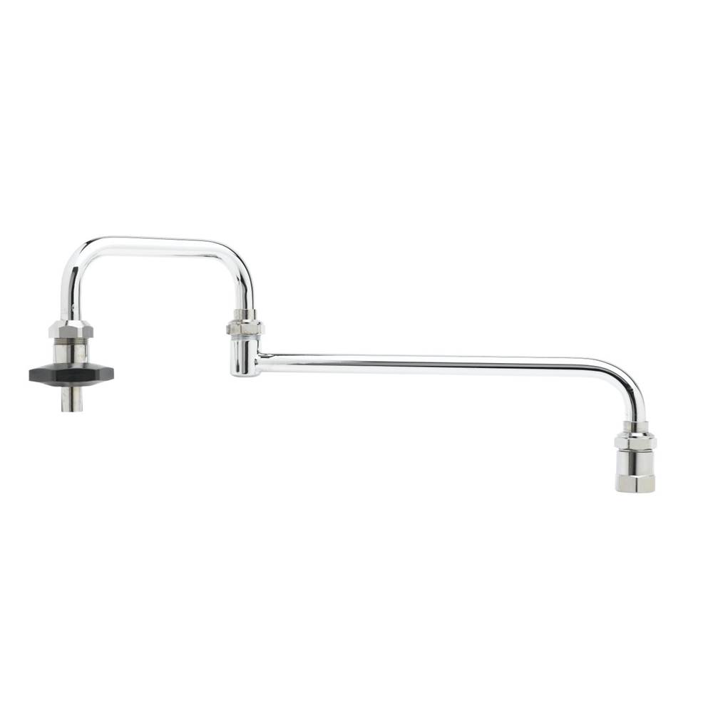 T&S Brass Pot Filler, Deck Mount, 18'' Double Joint Nozzle, 1/2'' NPT Inlet, Insulated On-Off Control